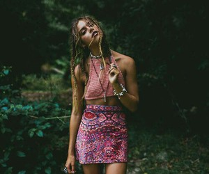 girl, boho, and hippie image