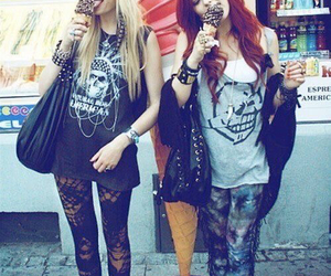 girl, grunge, and ice cream image