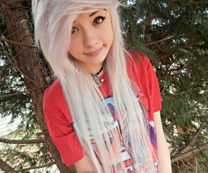 dyed hair, emo, and pretty image
