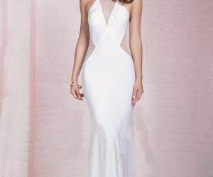 evening dress, white evening dress, and sheath evening dress image