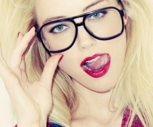 amber heard, glasses, and sexy image