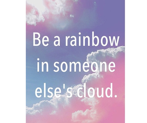 inspirationalquotes, clouds, and rainbow image