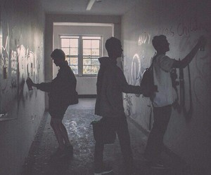 boy, grunge, and graffiti image