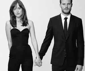 couple, Jamie Dornan, and fifty shades of grey image