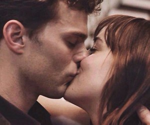 kiss, christian grey, and fifty shades of grey image