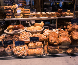 bakery, bread, and chocolate image
