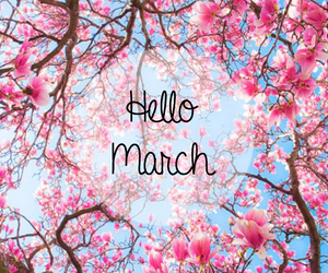 first, flowers, and march image