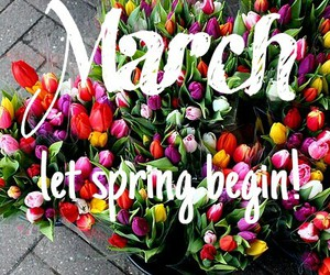 <3, march, and color image