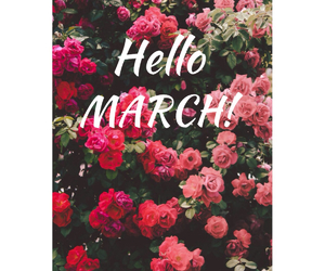 flowers, march, and pink image