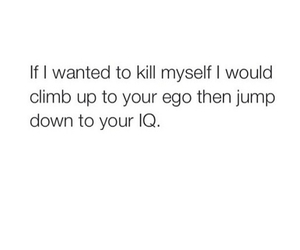 funny, ego, and iq image