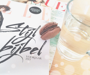 Elle, macarons, and magazines image