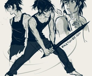 nico di angelo, viria, and percy jackson image