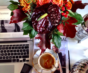 coffee, decor, and flowers image