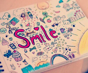 smile, drawing, and sun image