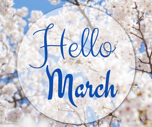 background, flowers, and march image