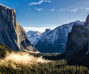 beautiful, cliff, and mountains image