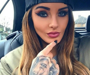 beautiful, woman, and style image
