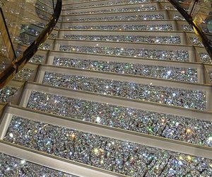 stairs, luxury, and glitter image