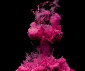 pink, smoke, and explosion image