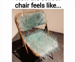 school, chair, and funny image