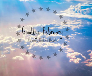 clouds, february, and goodbye image