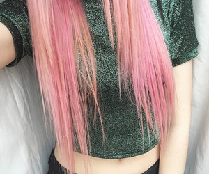 color hair, girl, and long hair image