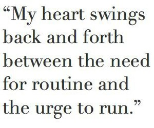 quote, heart, and run image