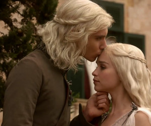 game of thrones, daenerys targaryen, and viserys targaryen image