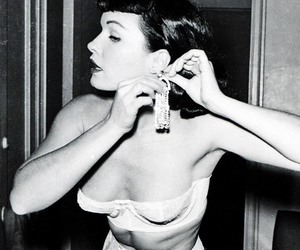 Bettie Page, black and white, and sexy image