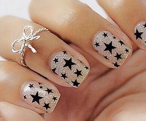 black, nails, and stars image