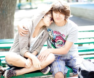 boy and girl, lovely, and пирсинг image