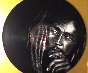 acrylic, art, and bob marley image