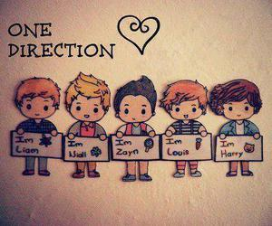 cartoon, drawing, and one direction image