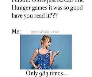 funny, the hunger games, and xD image