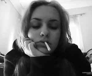 black and white, cigarettes, and grunge image