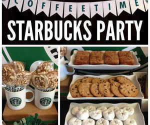 party, starbucks, and coffee image