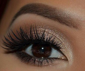 makeup, beauty, and brown eyes image