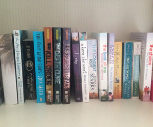 books, john green, and nicholas sparks image