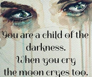 child, cry, and Darkness image