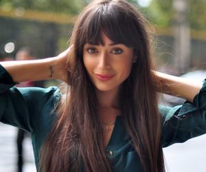 bangs, hairstyle, and long image