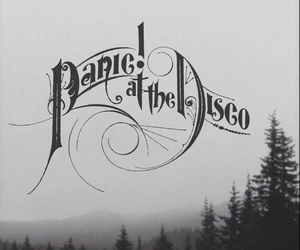 panic! at the disco, band, and black image