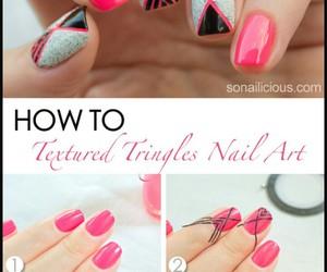 diy, nails, and pink image