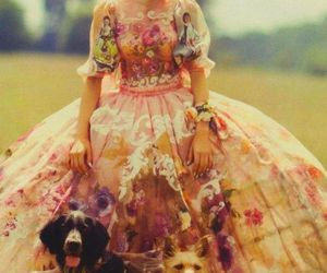 flowers, dress, and vintage image