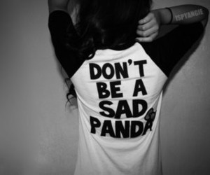 panda, girl, and sad image