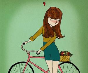bike, drawing, and illustration image