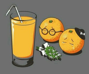 orange, juice, and funny image