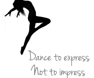 dance, express, and flower image