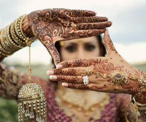 henna, india, and tattoo image