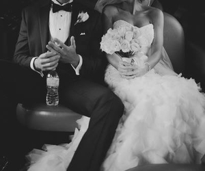wedding, love, and couple image