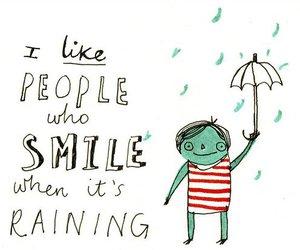 rain, smile, and raining image